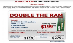Superb Hosting Coupon Double the RAM